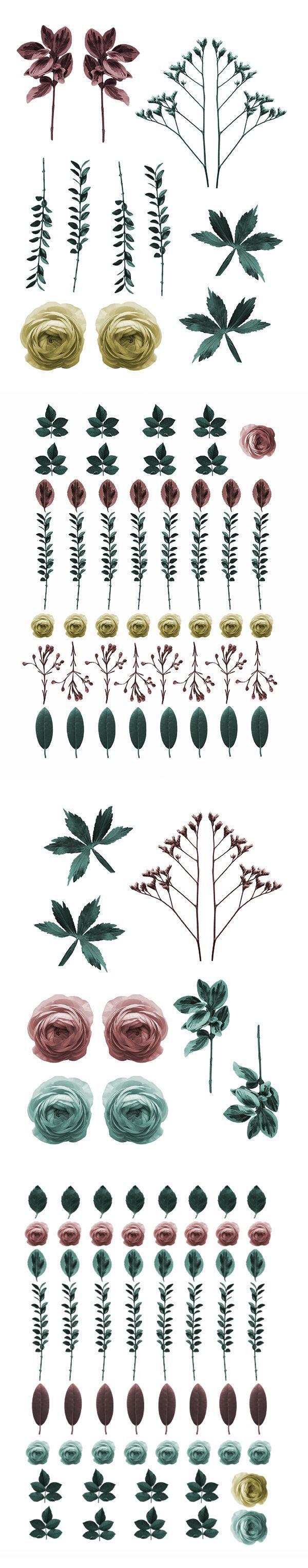 Vintage flowers | Pressed flowers | 70s crafts | desktop wallpapers | Mobile wallpapers