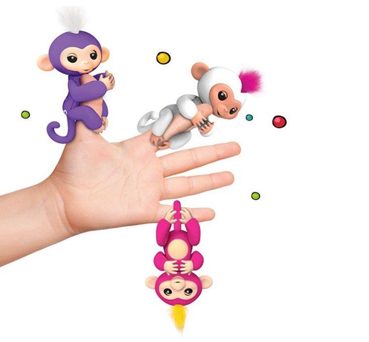 2018 Fingerlings Interactive Baby Monkeys Smart Colorful Fingers Llings Finger Monkey Toys Best Gifts For Kids