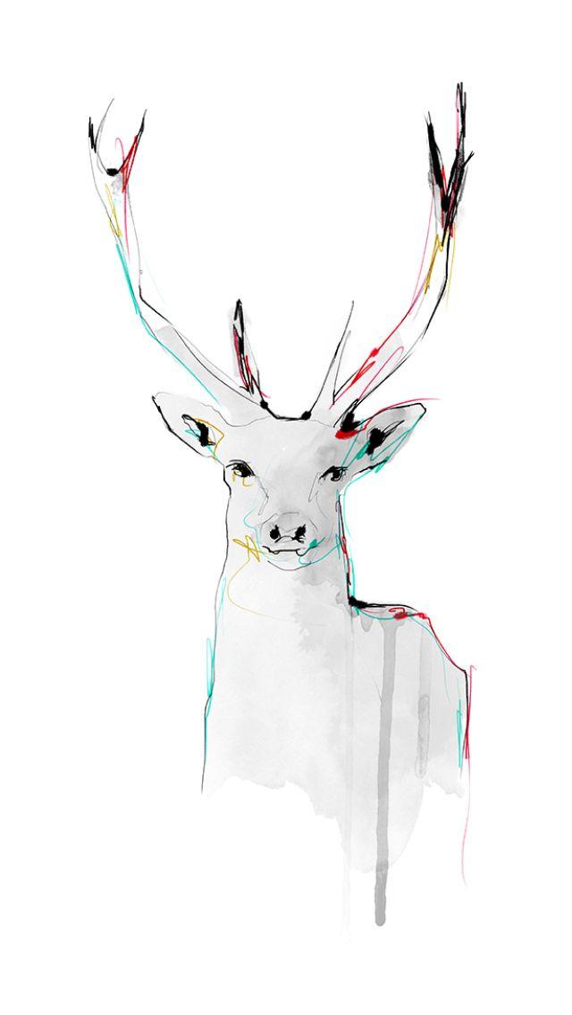 Deer illustration by Charlotta Larsdotter