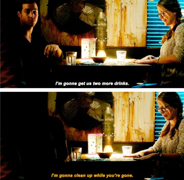 """""""I'm gonna clean up while you're gone"""" - Kara and Mon-El #Supergirl"""