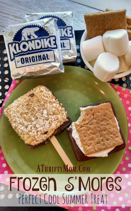 Frozen S'Mores a perfect treat for a hot summer day made with a Klondike ice cream bar, recipes with ice cream