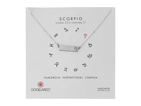 Dogeared Scorpio Zodiac Bar Necklace Sterling Silver - Zappos.com Free Shipping BOTH Ways