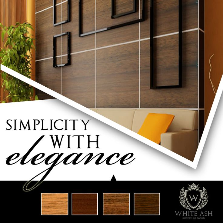 Laminates from Whiteash are available in a number of patters and designs lending an elegant touch to all products.