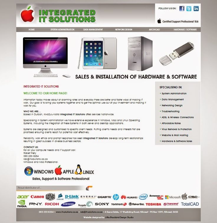 Little Blackbird Design Studio: #Website #Design for Integrated IT Solutions - http://www.it-solutions.co.za/