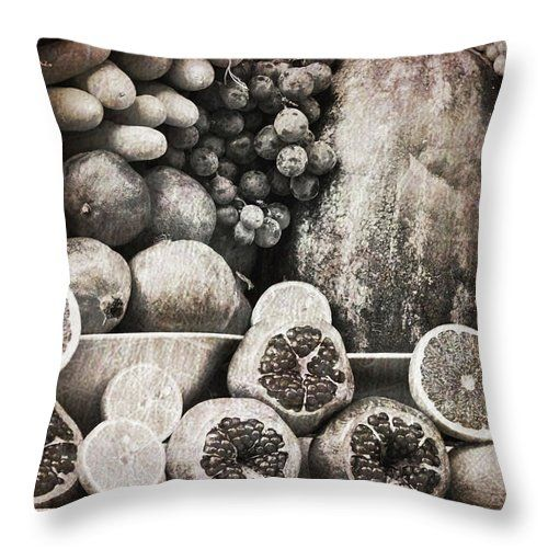 Retro Fruits By Svetlana Yelkovan Throw Pillow #SvetlanaYelkovanFineArtPhotography #pillow  #ArtForHome #FineArtPrints #fruits