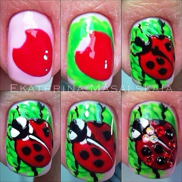 63 best Uñas abejas, libelulas y mariquitas images on Pinterest ...