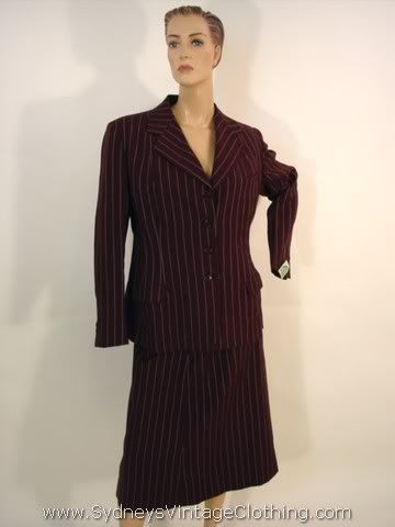 Brown pinstripe suit - looks much better than the image