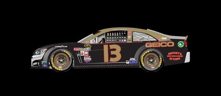 2016 Darlington throwback paint schemes | Casey Mears No. 13 Germain Racing Chevrolet