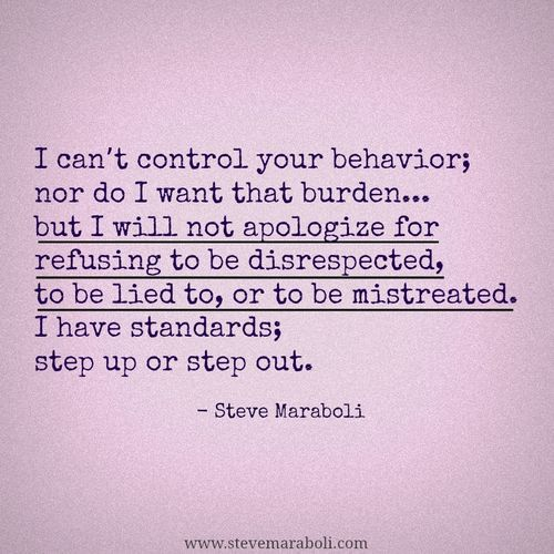 Bam! #boundaries #integrity-- the INFJ way, we don't put up with crap. (This annoys me when people step all over my emotions just because they are going through a new transformation in their life. They think its okay to do so because they did not mean it and are putting all their energy into something new.)