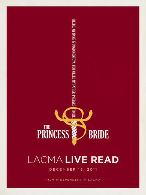 "Promotional Poster for Jason Reitman's Live Reading of ""The Princess Bride"""