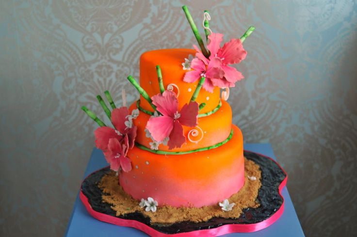 tropical wedding cake ideas 17 best images about cake 15 orange coral on 21276