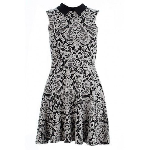 Amy Fine Knit Paisley Skater Dress BUY IT NOW £18 AT www.fuchia.co.uk