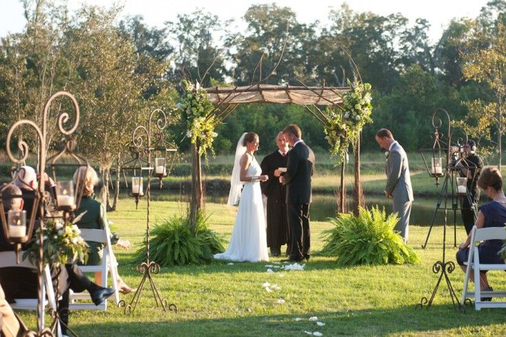 Intimate Rustic Backyard Wedding: Intimate Outdoor Wedding In The Low Country, Flowers By