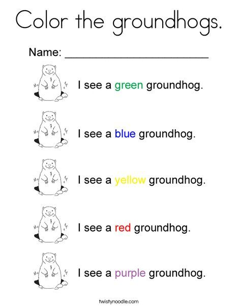 color the groundhogs coloring page - Groundhog Coloring Pages