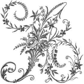 """Монограмма вышивка """"Викторианский алфавит"""""""
