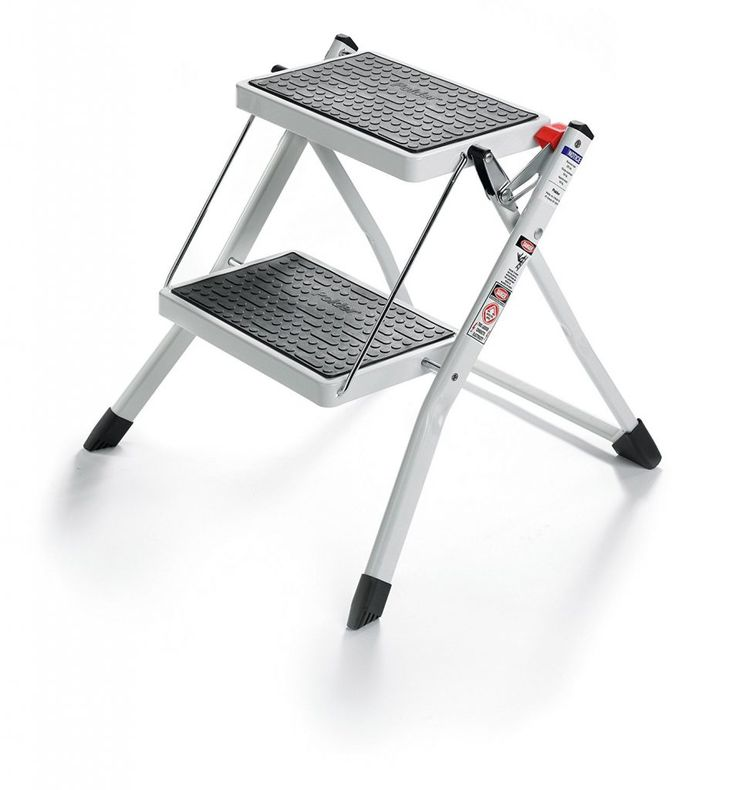 New Rubbermaid 2 Step Stool White