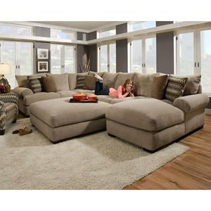 3-Piece Sectional in Bacarat Taupe | Nebraska Furniture Mart