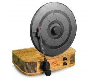 Classic Vintage Style Bluetooth Turntable - Vertical/Standing Record Player Speaker System