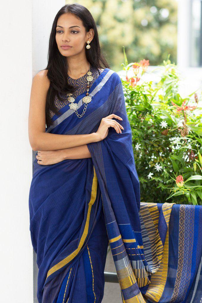 Nil Katarolu Saree from FashionMarket.lk