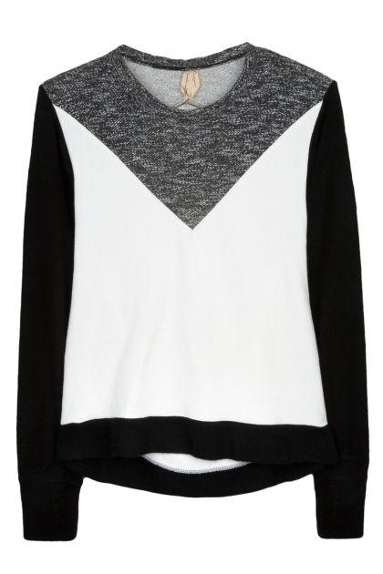 Nadia Rapti Multicolor Cotton Sweatshirt  _ Fashionnoiz.com  #NadiaRapti #Fashionnoiz