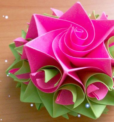 DIY Amazing paper rose - origami flower gift topper // Csodás papír virágos ajándék masnik házilag (moduláris origami) // Mindy - craft tutorial collection // #crafts #DIY #craftTutorial #tutorial #ValentineCrafts #ValentinesDayCrafts #DIYAnniversaryGifts