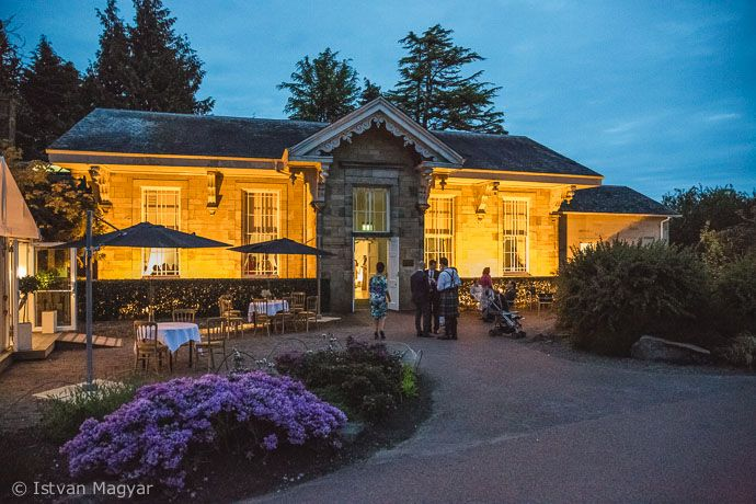 caledonian hall at night botanic garden edinburgh