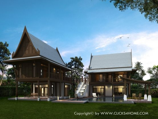 160 best images about thai house on pinterest for Thai style house plans