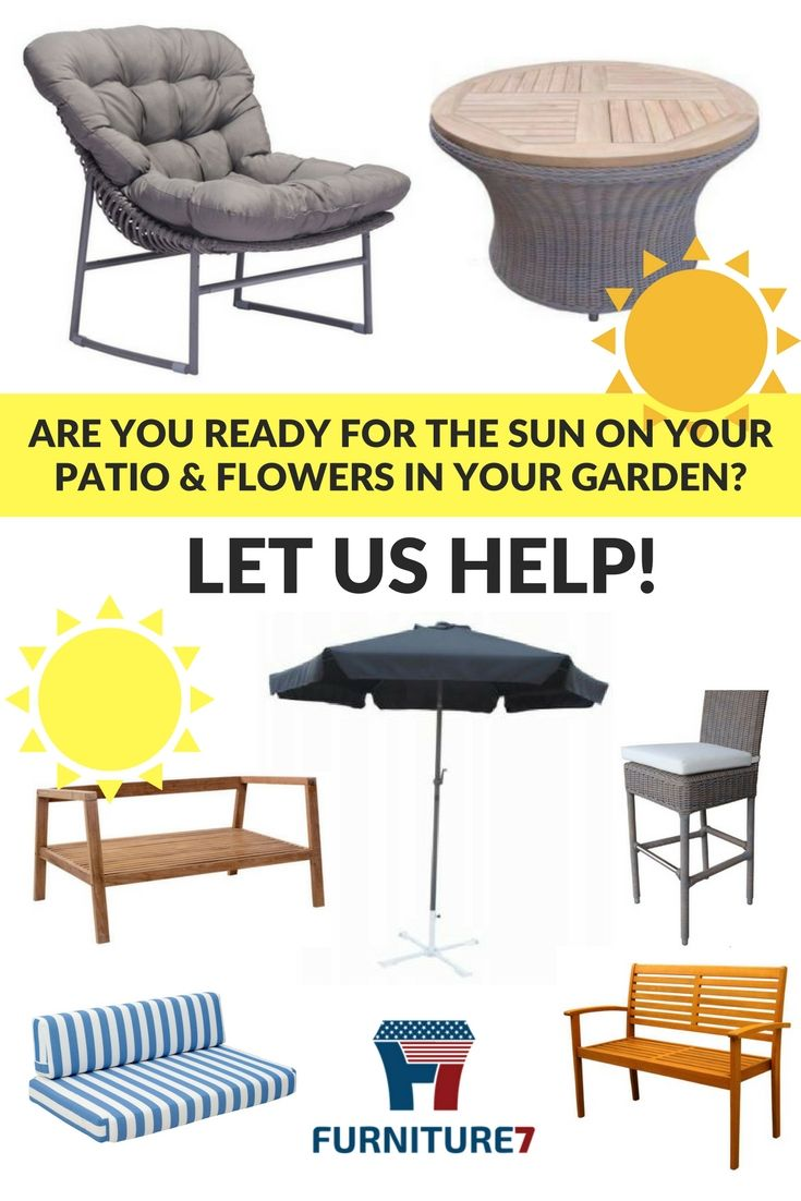 Be Ready For The Sunshine With F7 S Brand Name Outdoor Patio