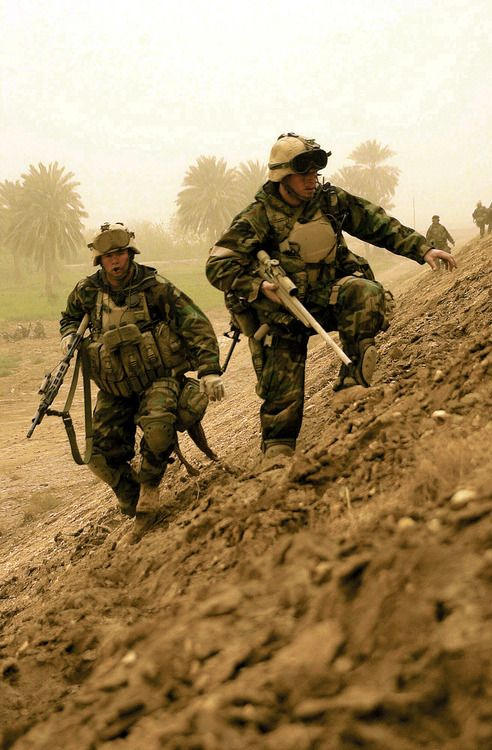 youareclearedhot-over:  Two Marine Corps snipers photo taken during Operation Iraqi Freedom