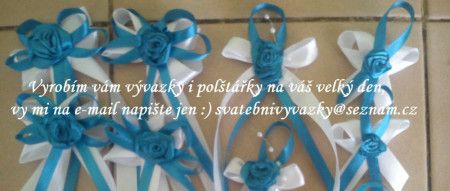 Vyrobím svatební vývazky v jakékoliv barvě,polštářky na prstýnky,náramky pro…