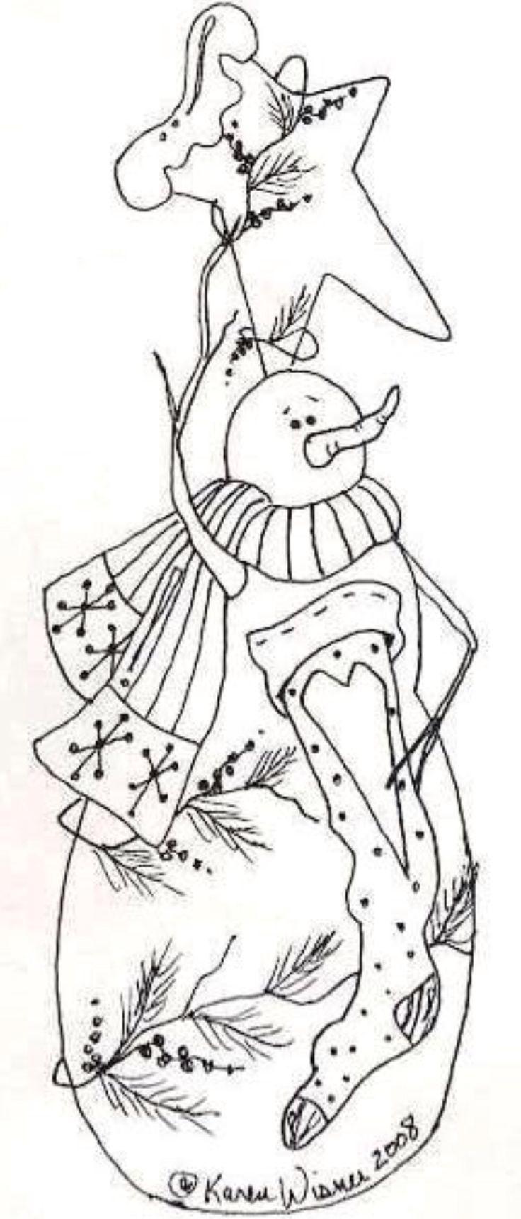 Primitive Snowman Coloring Pages