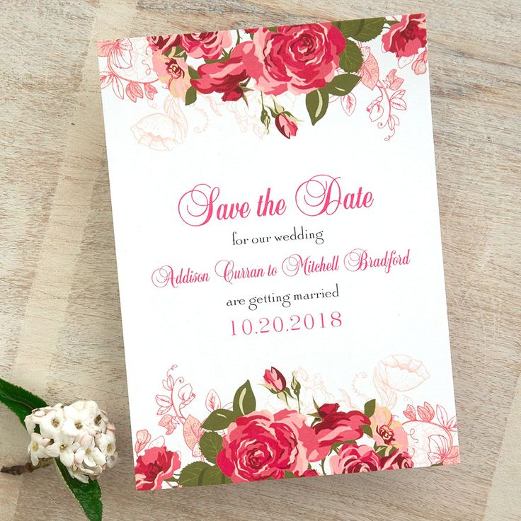 Rose Garden Save The Date Wedding Invitations American