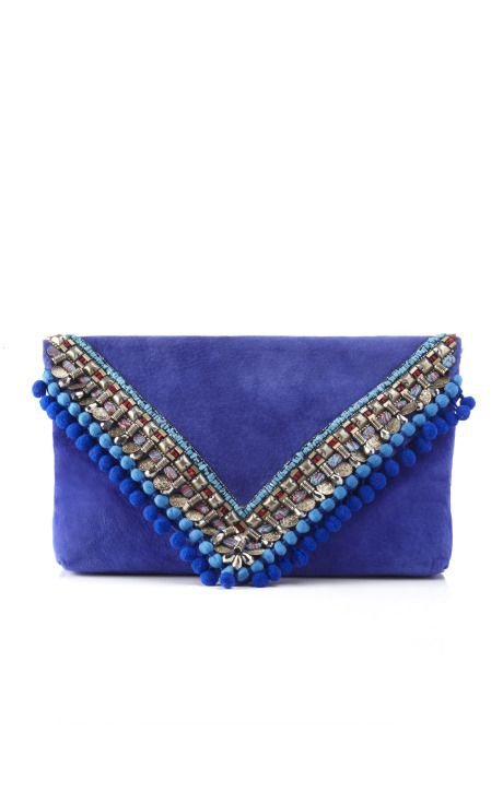 Matthew Wiliamson Cornflower Large Envelope Clutch