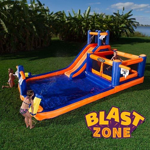 Bring the amusement park home with Blast Zone bounce houses and slides! Purchasing can pay for itself in as little as one use as compared to renting. Browse an extensive selection of durable designs that kids love at www.BlastZone.com #PiratesBay