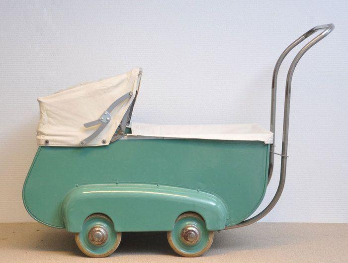 Online veilinghuis Catawiki: Souplex - Antieke metalen art deco speelgoed kinderwagen