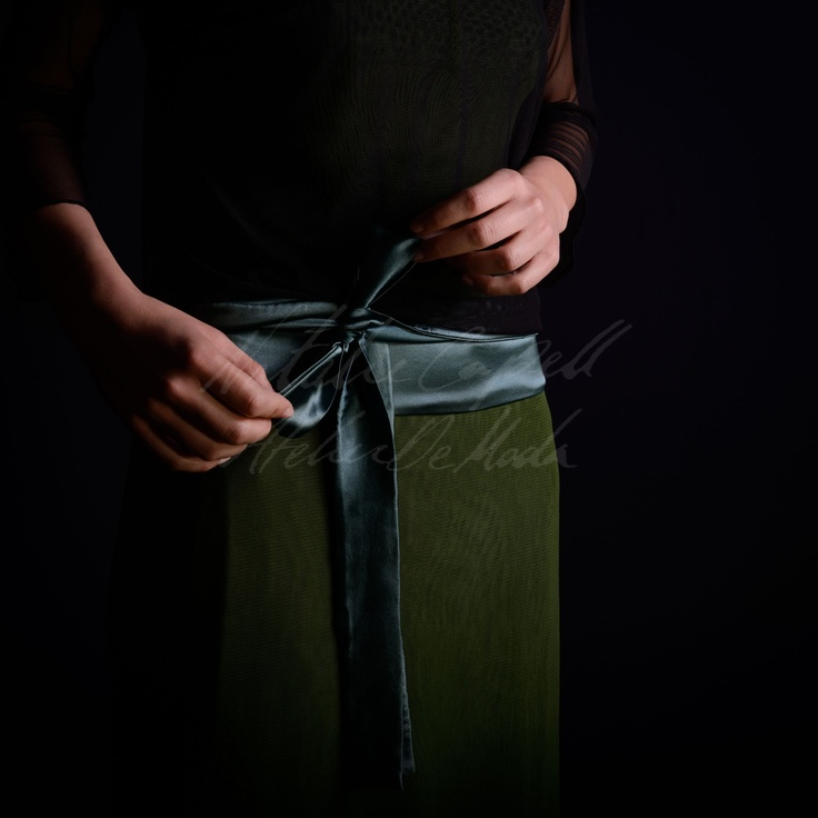 Every day is a gift...  ( A silk satin belt from the Atelier)  www.nataliecapell.com