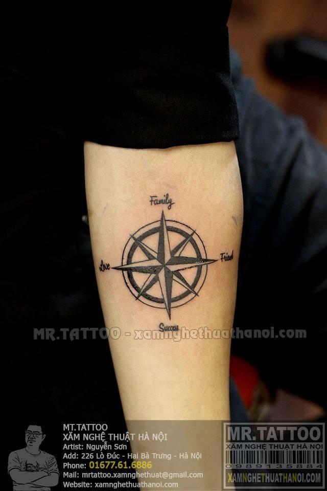 hình xăm la bàn ( compass tattoo ) | Compass tattoo, Hình ...