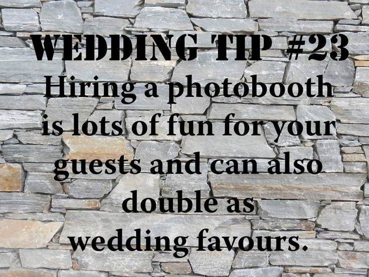 Wedding Tip #23