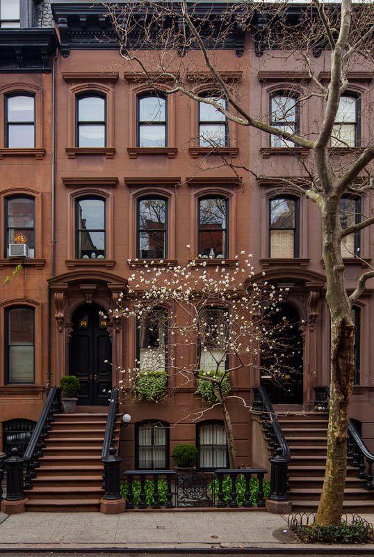 Brownstones on Perry Street, West Village. NYC