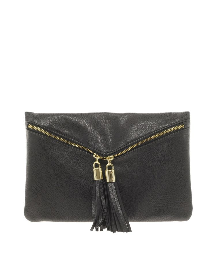 Great leather clutch for cocktail season from @asos.com @asos love the tassels~ $32 #style #fashion