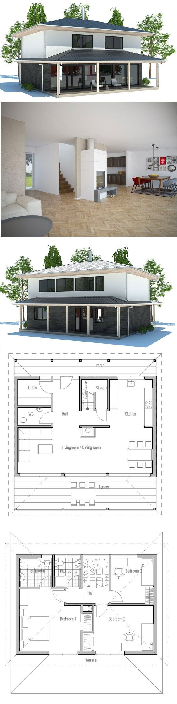 Small House Plan #smallhouse #architecture #architects