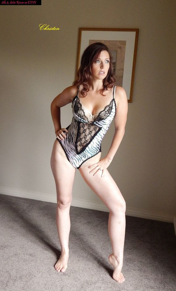Sexy Vintage 70's ZEBRA Stripes and Black LACE TEDDY Romper Onesie - M ...: pinterest.com/pin/395542779750739504