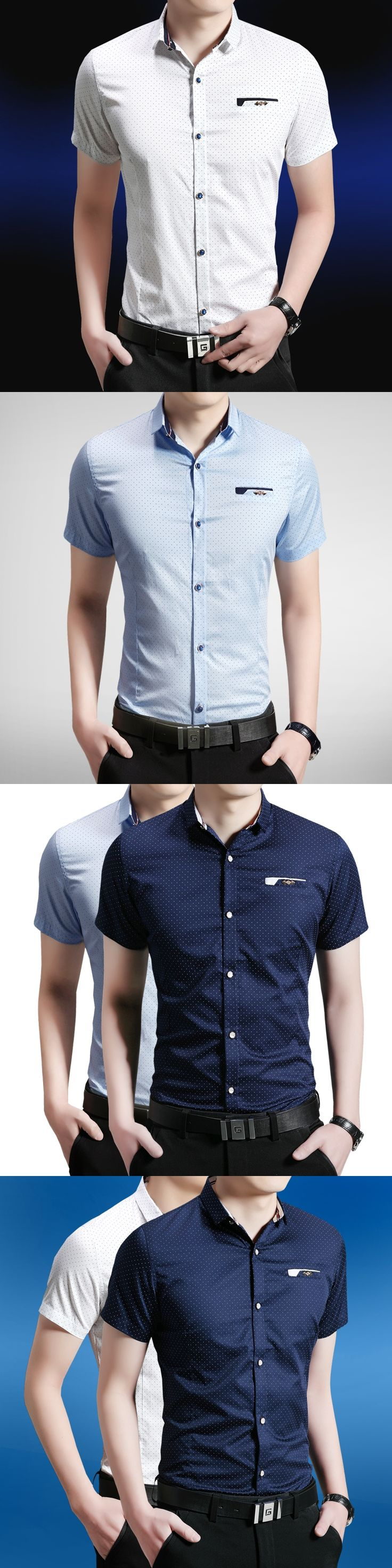 Hot  Arrial 2017 New Men Jeans Shirts Summer  Cotton Water Washing Male Tops Short Sleeve  Printed  Denim shirt For Men 5XL