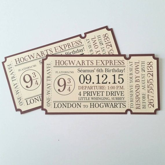 hogwarts express ticket - 570×570
