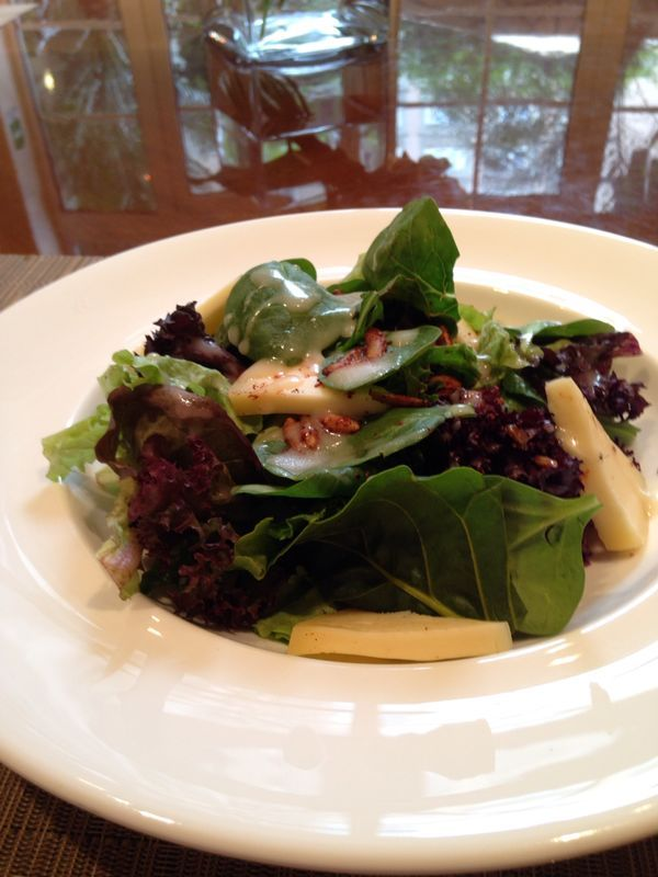 Organic spinach salad, one of our specials for lunch this week at Reforma500