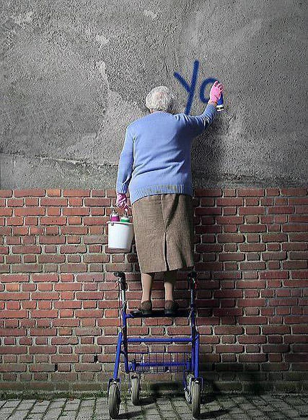Street art is for all ages...