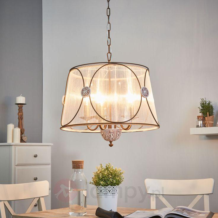 Lampa wisząca Letizia z prześwitującą organzą 6727029