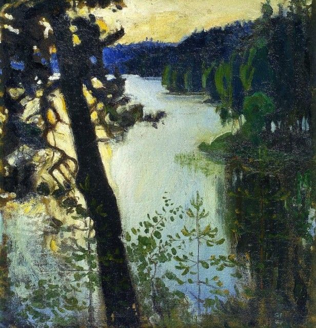 Akseli Gallen-Kallela - Landscape from Ruovesi. * http://en.wikipedia.org/wiki/Akseli_Gallen-Kallela