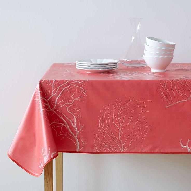 Imagen 1 del producto Mantel plastificado estampado coral
