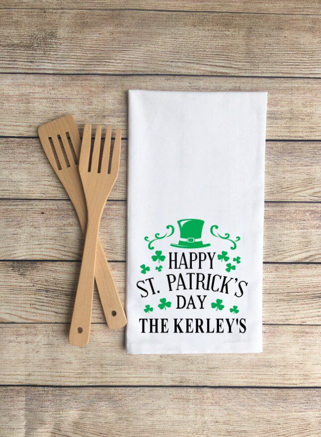 St Patrick S Day Luck 2 Pk Kitchen Towels With Images